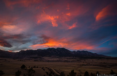 Flatirons Vista (Bill Bowman) Tags: sunset bouldercolorado openspaceandmountainparks flatironsvista ncar eldoradosprings communityditch bearpeak greenmountain