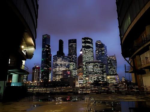 Moscow-City. Night ©  Sergei F