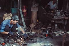 The welder (haitruonghp) Tags: welder haiphong people working streetlife sonyalphaa6000 sony sel35f18 vietnam sonyalpha worker