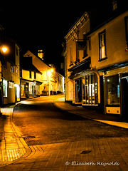 Day 304. (lizzieisdizzy) Tags: outside outdoors night nighttime village town street building buildings shops quaint oldfashioned old stnicholasstreetdiss cobbles