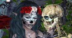 Promets moi (ℰżιℓι) Tags: psychobarbie pulse salt conviction cx leluck appearance avatar bento catwa diadelmuertos fashion gothic halloween maitreya messiahxshi roses secondlife skeleton skull stealthic swallow apparel