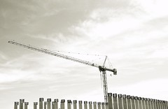 The B&W Sessions  : Construct (Storyteller.....) Tags: blackandwhite blackwhite construction construct bulid crane high