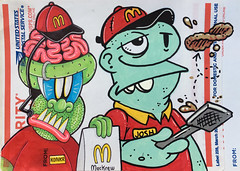 MacKrew (Question Josh? - SB/DSK) Tags: sticker stickers sticks slaps collab collaboration mcdonalds burgers fastfood label228