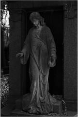 DSC_1143- (imagerme) Tags: tilburg cemetery statue artdeco grave angel blackandwhite