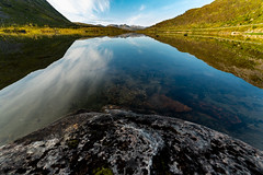 Beautiful lake view (imagesbystefan.com) Tags: beautiful day view lake mountain senja norway landscape nature travel outdoors pond scenic scenery nordic clear sky blue hill valley range northern tromso water fall autumn season beauty slope clouds white