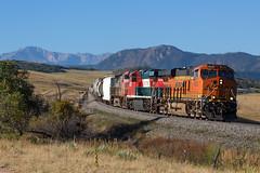 BNSF 4274 Greenland 22 Sep 18 (AK Ween) Tags: bnsf bnsf4274 ge generalelectric es44c4 gevo greenland colorado jointline pikespeak rampartrange mountherman greenlandopenspace train railroad