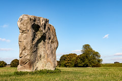 Avebury Sarsen Stone (Keith in Exeter) Tags: avebury stone circle henge megalithic standing wiltshire landscape grass field tree sky