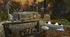 Smores & More (Frankie Jade Designs) Tags: refuge chair table randommatter collabor88 witcheskitcn pumpkin cocoa hive fall autumn scarecrow trompeloeil marzellecottage haybale cottage dustbunny blanket smores thanksgiving plaid hivesl what next frankiejademontoya eterniticooperstone magnoliahill lantern virtualreality avatar