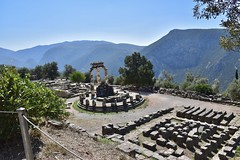 fullsizeoutput_8c65 (lnewman333) Tags: delphi greece europe sanctuaryofathenapronaia athena goddess greekmythology archaeologicalsite ancient historic ruins archaeology mountparnassus 4thcenturybc delphoi