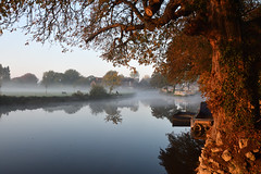 (283/365) Wednesday October 10th (philk_56) Tags: abingdon oxfordshire river thames sunrise morning