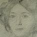 DEGAS Edgar,1860 - Madame Hertel assise sur un Canapé (Louvre RF29294) - Detail 33