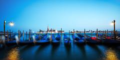 Nightfall (matt.kueh) Tags: venice venedig bluehour nightfall gondolas longexposure sonyilce7m2 sonyfe1635mmf4zaoss