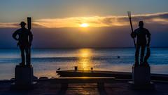 Gardians of the Balaton (NickLesta) Tags: hungary balaton fured balatonfured lake marina fish fisherman sunrise sun morning