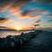 Sunset in Poolbeg - Dublin, Ireland - Seascape photography