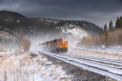 Ground Blizzards and Sunshine (Erik C. Lindgren) Tags: weatherandtrains travel railroad train coloradorailroads coloradotrains moffatsubdivision moffatsub moffattunnelsub moffattunnelsubdivision moffattunnel unionpacific unionpacificmoffattunnelsubdivision bnsfrailway bnsf colorado