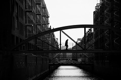 (s@brina) Tags: bridge street city water urban hamburg germany man