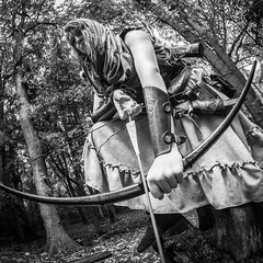 "(Lee ""Pulitzer"" Pullen) Tags: bristol nikond810 leighwoods larp liveactionroleplay empire navarr archer archery bowandarrow reenactment woods forest cosplay blackandwhite nikkorafs2470mmf28ged"