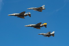 Hellenic Air Force mixed formation (spipra) Tags: afw2018 athens airshow aircraft airplane demonstration demo f4e mirage 2000 f16 haf