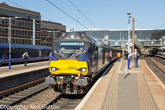 DRS 68033 - Haymarket (Neil Sutton Photography) Tags: 68033 beaconrailleasing canon class68 drs drslivery dieselelectric diesellocomotive edinburgh eurolight fifecircle haymarket railway scotrail scotland scotlandsrailway train uklight loco locomotive