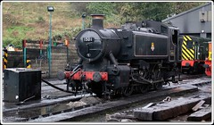1501 (zweiblumen) Tags: 1501 gwrpannier 1949 steam locomotive bridgnorth shropshire england uk severnvalleyrailway vintage canoneos50d polariser zweiblumen britishrailways 060pt