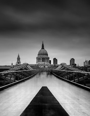 Ghosts (TS446Photo) Tags: london stpauls longexposure art artist bridge monochromatic black white movement storm