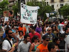 Protesta 15M (Landahlauts) Tags: 15m acampada andalucia andalusian citizen ciudadania democraciarealya dry granada indignados indignaos manifestacion movimiento15m nonosrepresentan partidospoliticos protesta revolution spanishrevolution tomalacalle democracia