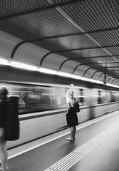 Waiting (Cyrill Voegtlin) Tags: waiting snapseed bw metro blackandwhite bandw omdem10 olympus vsco