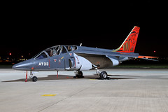 AT33 (Ian.Older) Tags: dassault dornier alpha jet at33 belgian air force northolt nightshoot night photography military training aircraft ajets sabca b331155 spa78 noir cazaux panthère