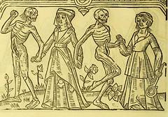 This image is taken from Page 38 of La grande danse macabre des hommes et des femmes : précédée du dict des trois mors et dfs [!] trois vifz, du Débat du corps et de l'ame, et de La complaincte de l'ame damp (Medical Heritage Library, Inc.) Tags: dance death wellcomelibrary ukmhl medicalheritagelibrary europeanlibraries date1862 idb24877402