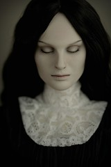 . (dolls of milena) Tags: bjd abjd resin doll whispering grass portrait natalie dark noir vintage retro victorian