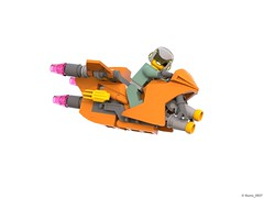 29 RETRO SPACE HERO'S SPACEBIKE - Right Side (Nuno_0937) Tags: lego ideas classic space spaceship ship moc retro hero minifigure