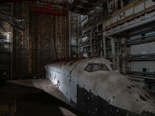 Abandoned soviet shuttle