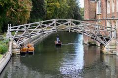 Cambridge - Rain - Sep (fozzyc) Tags: cambridge rain street 50mm prime nikon d3300 tourist tourism mathmatical bridge river