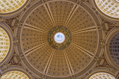 Library of Congress Main Reading Room Ceiling (johngoucher) Tags: approved libraryofcongress sonyimages sonyalpha washingtondc architecture architecturalphotography iconicbuilding travel dome atrium arches ceiling library wideangle rokinon12mm rokinon