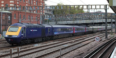 First Great Western . 43193 . Passing Royal Oak LUL Station , West London . Thursday 11th-October-2018 . (AndrewHA's) Tags: london royaloak station greatwestern railway first great western high speed train class 43 43193 intercity 125 power car 1l65 cardiff paddington express passenger service