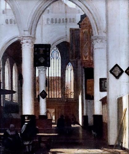IMG_6671 Emmanuel de Witte. 1617-1692. Amsterdam   Intérieur d'église Interior of church.  Dresde. Gemäldegalerie Alte Meister.