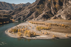 Merge of Chuya and Katun Rivers (filin__sergey) Tags: mountains mountain landscape landscapes river lake mountainscapes valley scenery idyllic altay altai sony sonya7 sonyalpha sonya7s autumn