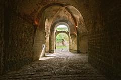 Pavage (JDAMI) Tags: château châteaufort arcades briques pavés pavage moyenâge médieval guise aisne 02 picardie france nikon d600 tamron 2470