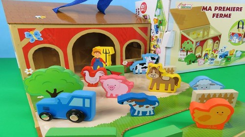 My Farm Wooden Toy Set Learning Names of Animals For Children