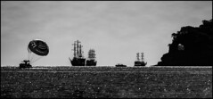 Marine silhouettes / Морские силуэты (dmilokt) Tags: природа nature пейзаж landscape море sea корабль ship dmilokt чб bw черный белый black white nikon d750 d3 ins