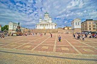 Finnland - Helsinki, Senatsplatz und Dom