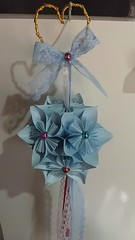 Kusudama 🌸🌸💞 (ArtesaNá) Tags: sakuraorigami flordeorigami dobradura kusudama artesanatoempapel origami decoraçãoorigami