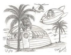 Space Monkey (rod1691) Tags: myart art sketchbook bw scfi grey concept custom car retro space hotrod drawing pencil h2 hb original story fantasy funny tale automotive illustration greyscale moonpies sketch sexy voodoo