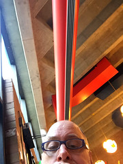 Day 2414: Day 224: Ducts (knoopie) Tags: 2018 august iphone picturemail ducts bellevuecollege theater lobby doug knoop knoopie me selfportrait 365days 365daysyear7 year7 365more day2414 day224
