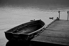 In partenza... (rena@ovest) Tags: lago di avigliana barca acqua sera legno molo