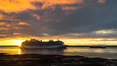 Sunrise at Orleans Island (Agirard) Tags: sunrise cruise boat royal princess «royal princess» stlawrence river fall sun light clouds quebec canada zeiss loxia 235mm 35mm sony a7ii