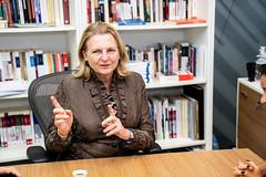 Außenministerin Karin Kneissl hält einen Vortrag an der American University Beirut