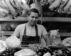 Analogue Photography (paovazz) Tags: portrait white bn analogue minolta 50mm çmarket man guy people mexico city black cdmx fruit vegetable job working