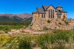 St. Malo's Chapel on the Rock (Davien Orion) Tags: explore colorado rockymountains chapel church mountains stone blue green sonya77 sony photoshopelements stmalost malost malosst malos rockchapel rock beautiful nature ngc flickrbest morning