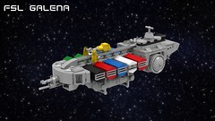 FSL Galena (ABS Shipyards) Tags: lego scifi space ship starship micro freight container ldd render